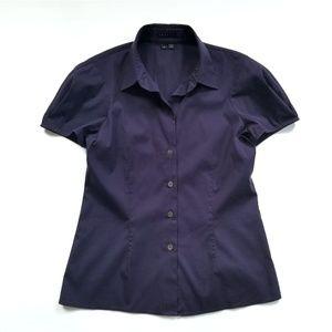 TheoryDeep Purple Pamela-luxe Button-down